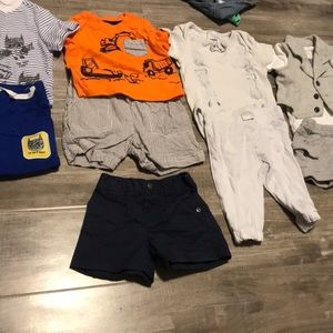 4 outfits and small pair of blue shorts
